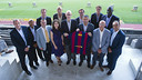 The NBA delegation was welcomed to the Camp Nou by President Bartomeu / PHOTO: VÍCTOR SALGADO - FCB
