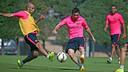 Mascherano and  Messi are in the squad for the game against Bilbao / PHOTO: ARXIU FCB