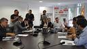 La reunión en la sede federativa. FOTO: FCF.