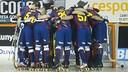 El equipo hace piña antes de la final de la Supercopa / FOTO: VÍCTOR SALGADO - FCB