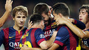 Piqué scored the only goal of the night / PHOTO: MIGUEL RUIZ-FCB
