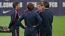 Luis Enrique was speaking after training at the Ciutat Esportiva / MIGUEL RUIZ-FCB