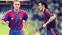 Luis Enrique y Blanc, vestidos de azulgrana / FOTOMONTAJE FCB