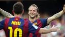 Rakitic and Messi both scored as Barça deep-sixed Granada. PHOTO: MIGUEL RUIZ-FCB.