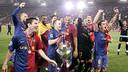 Andrés ha guanyat tres Lligues de Campions amb el Barça / FOTO: ARXIU FCB