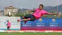 Alves at training / PHOTO: MIGUEL RUIZ