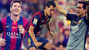 Messi, Busquets, and Bravo have started every La Liga match this season