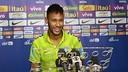 Neymar was speaking to the media from his team's Beijing hotel / PHOTO: CBF.COM.BR