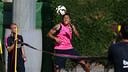 Adriano, jugant a futtennis. FOTO: MIGUEL RUIZ-FCB.