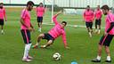 L'équipe première, à la Ciutat Esportiva / PHOTO: MIGUEL RUIZ-FCB