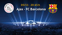 Ajax - Barça, on the 5th of November