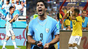 Design gambar dari Messi, Suarez dan Neymar