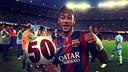 Neymar Jr a joué 50 matches avec le Barça