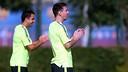 Messi et Xavi, à la Ciutat Esportiva / PHOTO: MIGUEL RUIZ - FCB