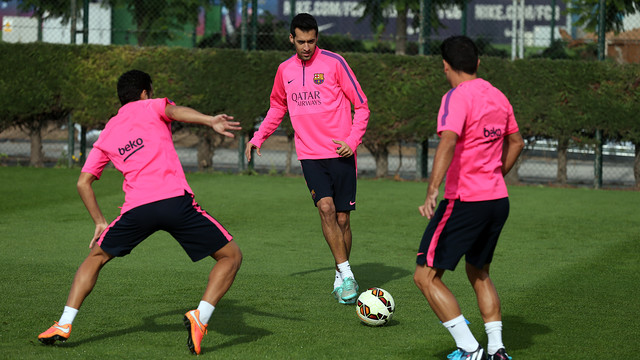 Sergio has trained again but without medical all clear / FOTO: MIGUEL RUIZ - FCB