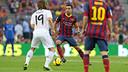 Xavi and Modric faced off in last season's Clásico. PHOTO: MIGUEL RUIZ-FCB.