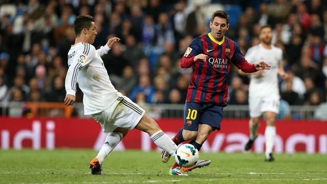 CR7 e Messi no último clássico do Bernabéu.