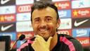 Luis Enrique, en conférence de presse / PHOTO : MIGUEL RUIZ - FCb