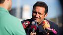 Eusebio ha atendido a los medios informativos antes del entrenamiento / FOTO: GERMÁN PARGA - FCB