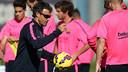 Luis Enrique during the training session at Ciutat Esportiva Joan Gamper / MIGUEL RUIZ - FCB