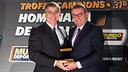 El vicepresidente Jordi Mestre, con el director de 'Mundo Deportivo', Santi Nolla / FOTO: GERMÁN PARGA-FCB