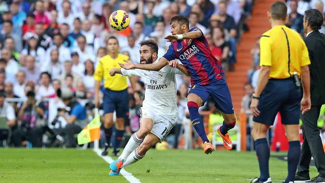 Neymar, en el Bernabéu / FOTO: MIGUEL RUIZ - FCB