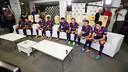 Huit joueurs du Barça ont testé le nouveau FIFA15 d'EA Sports / PHOTO : MIGUEL RUIZ - FCB