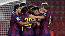 Piqué headed Barça's goal in Girona / PHOTO: MIGUEL RUIZ-FCB