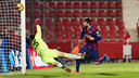 Piqué headed home Barça's first half opener / PHOTO: MIGUEL RUIZ-FCB