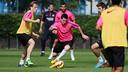 Messi, en el entrenamiento de este jueves. FOTO: MIGUEL RUIZ-FCB.