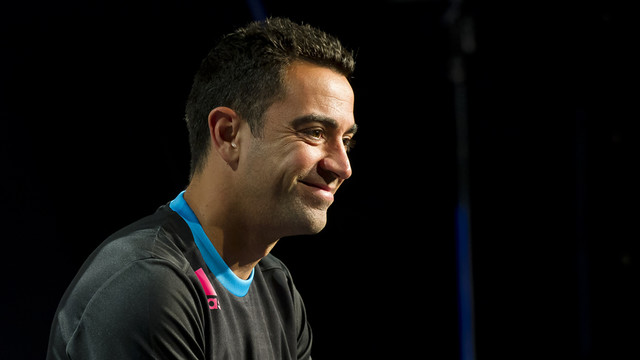 Xavi Hernández was speaking at a commercial event on Wednesday / PHOTO: FCB ARCHIVE