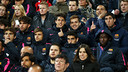 The U19 side in the stands at the Amsterdam Arena / PHOTO: MIGUEL RUIZ - FCB