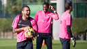 Alves, pendant la séance de jeudi / PHOTO: GERMÁN PARGA-FCB
