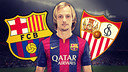 Rakitic is facing his former team on Saturday / FCB PHOTOMONTAGE