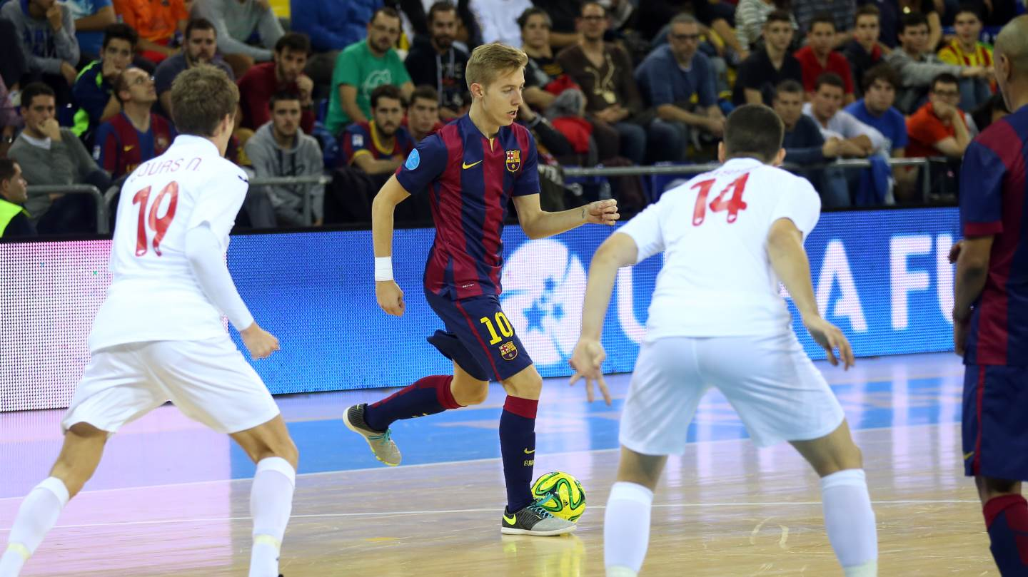 Barça futsal in action