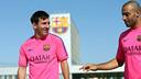 Messi and Mascherano at the Ciutat Esportiva Joan Gamper / MIGUEL RUIZ-FCB