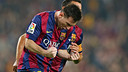 Leo Messi became the all-time league scoring record on Saturday / PHOTO: MIGUEL RUIZ - FCB