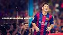 Congratulations, Messi!