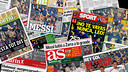 Messi's name and image dominated the Sunday papers / FCB PHOTOMONTAGE