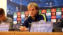 Ivan Rakitic, en rueda de prensa / FOTO: MIGUEL RUIZ-FCB
