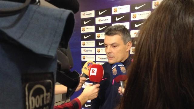 Pascual con los medios informativos / FOTO:FCB