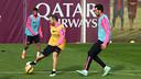 Iniesta during the training session / MIGUEL RUIZ-FCB