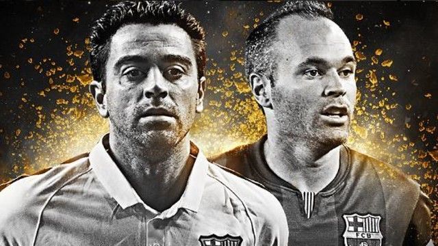 Xavi and Iniesta, nominated for the FIFPro 2014  World XI/ PHOTO: @FIFPro
