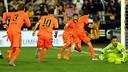 Així ha celebrat el Barça el gol de la victòria de Busquets / FOTO: MIGUEL RUIZ-FCB