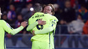 Iniesta and Rakitic both found the target in Huesca / PHOTO: MIGUEL RUIZ-FCB