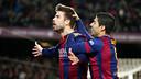 Gerard Piqué scored Barça's third goal of the afternoon / PHOTO: MIGUEL RUIZ - FCB