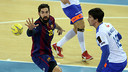 Karabatic in the derby against Granollers / PHOTO: MIGUEL RUIZ - FCB