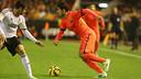 Luis Suárez lors du dernier match à l'extérieur, au Mestalla / PHOTO: MIGUEL RUIZ - FCB