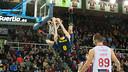 Mario Hezonja's steady hand guided FC Barcelona to victory on Sunday at the Palau Blaugrana / PHOTO: ALEIX TELLO - FCB