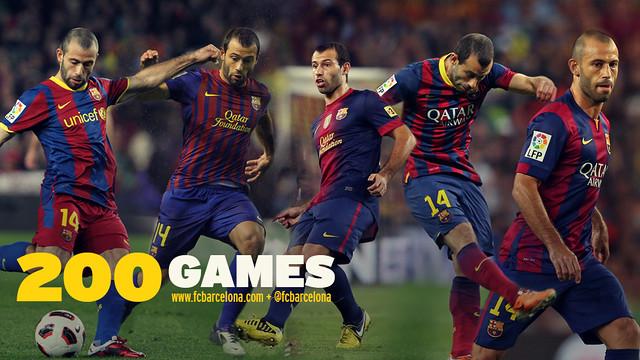 Маскерано провел двухсотый матч за Барселону - изображение 1
